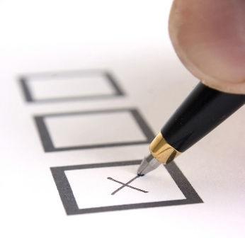 marking an X in a ballot box