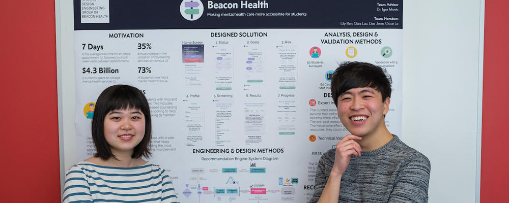 Beacon Health members from left:  Lily Ren and Oscar Lo