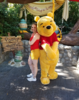 Katie posing with Winnie the Pooh