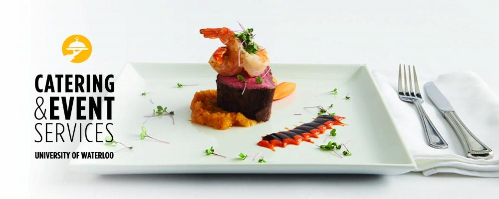 Steak and Shrimp on white plate