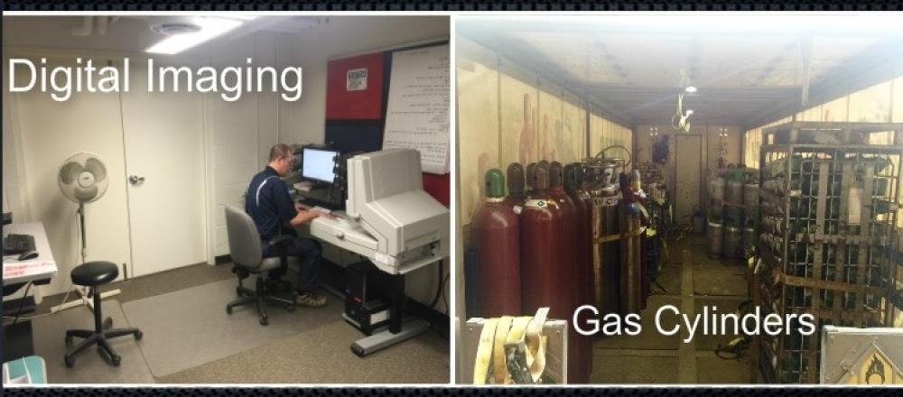 digital imaging machine, gas cylinders