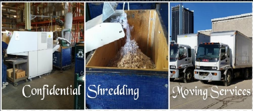 confidential shredding, moving services
