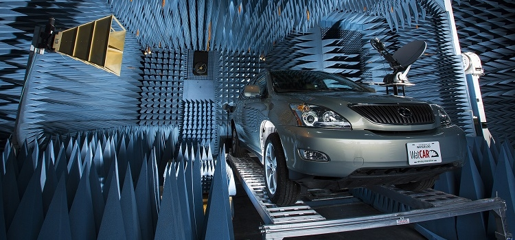 SUV in anechoic chamber