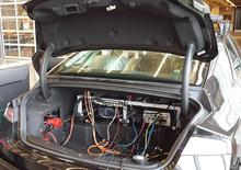Trunk of autonomoose with electric research