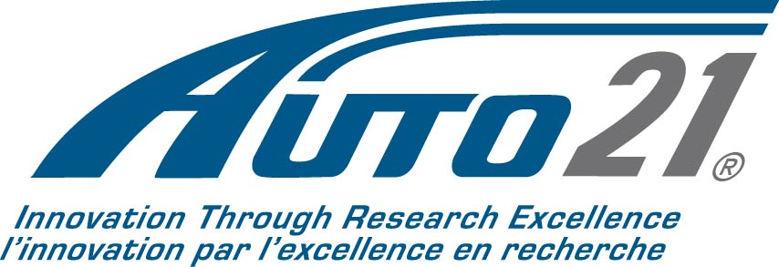 Auto21 logo and slogan. Automotive research and excellence.