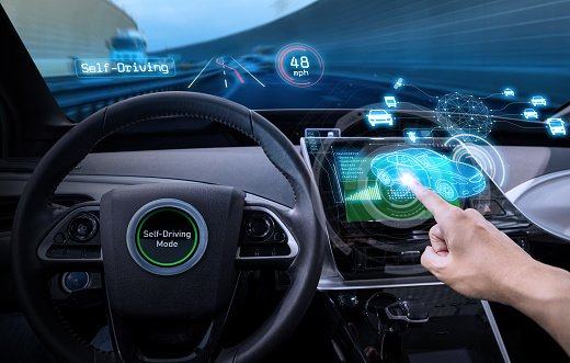 Steering wheel of self driving car