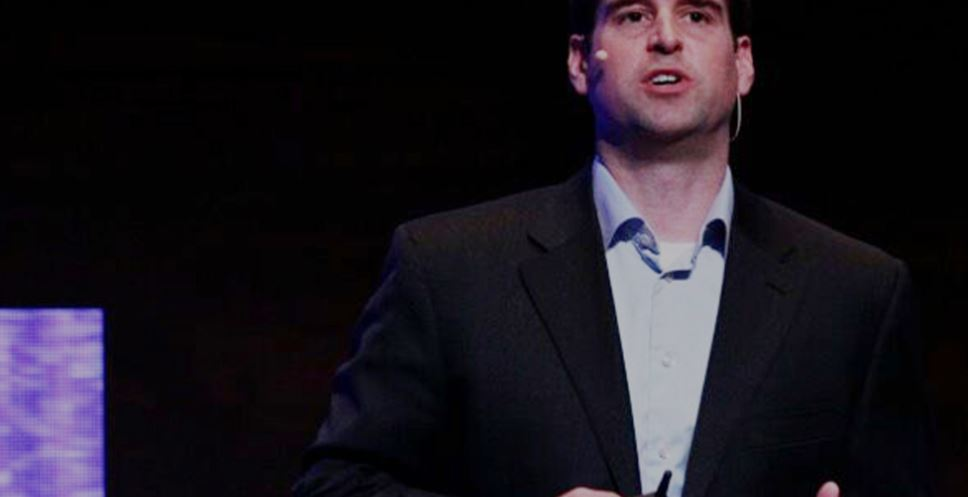 JB Straubel of Telsa addresses audience at Waterloo Summit
