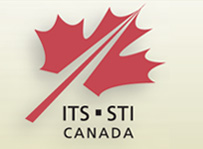 ITS Canada logo, it is a red maple leaf slanted to the right.