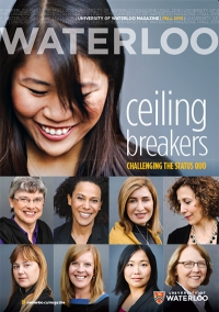 Waterloo ceiling breakers magazine cover, owning an assortment of engineering women