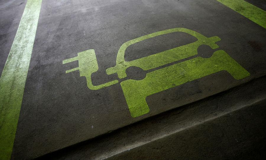 Painting of electric car