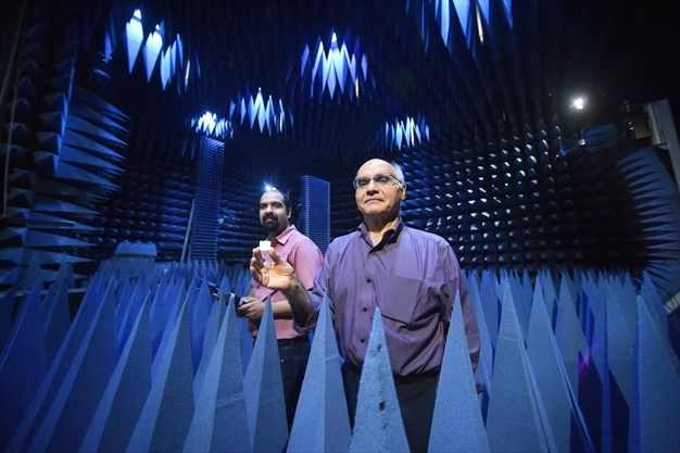 Profressors in anechoic chamber
