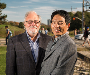Waterloo engineering professors Liping Fu and Frank Saccomanno