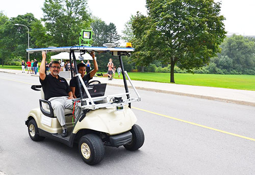 The self-driving car at the University of Waterloo
