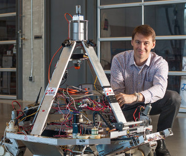 Steven Waslander at the UW Robotics bay