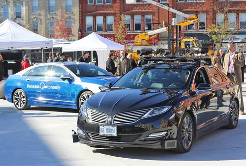 UW highly automated vehicles on display in Stratford.