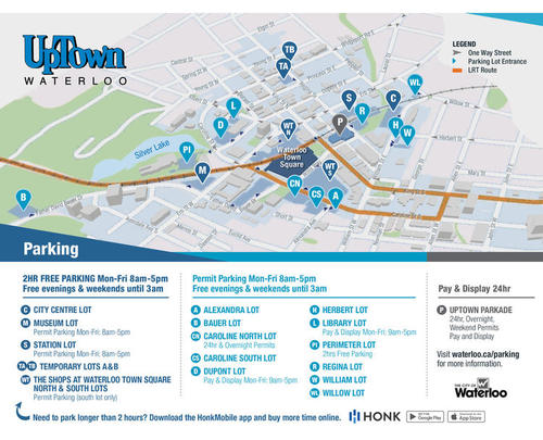 Uptown Parking Map