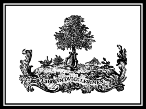 Educational Crest, Tree coming out of a harp