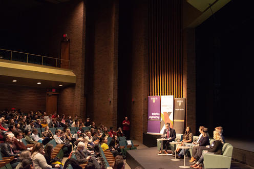 Panel and audience