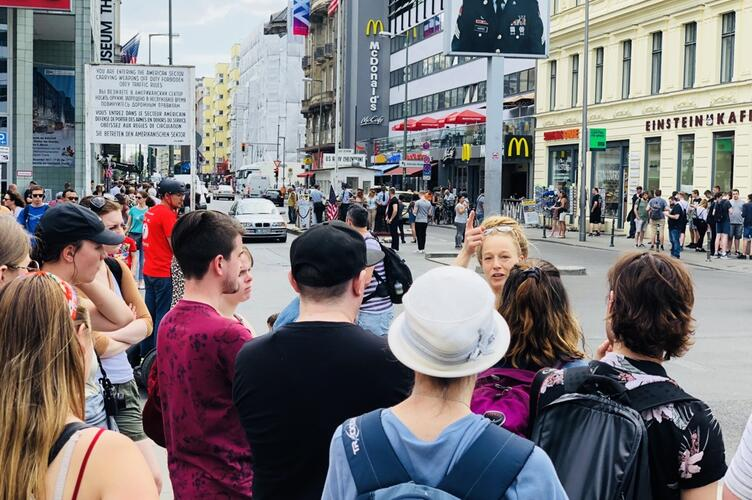 Students at Check Point Charlie