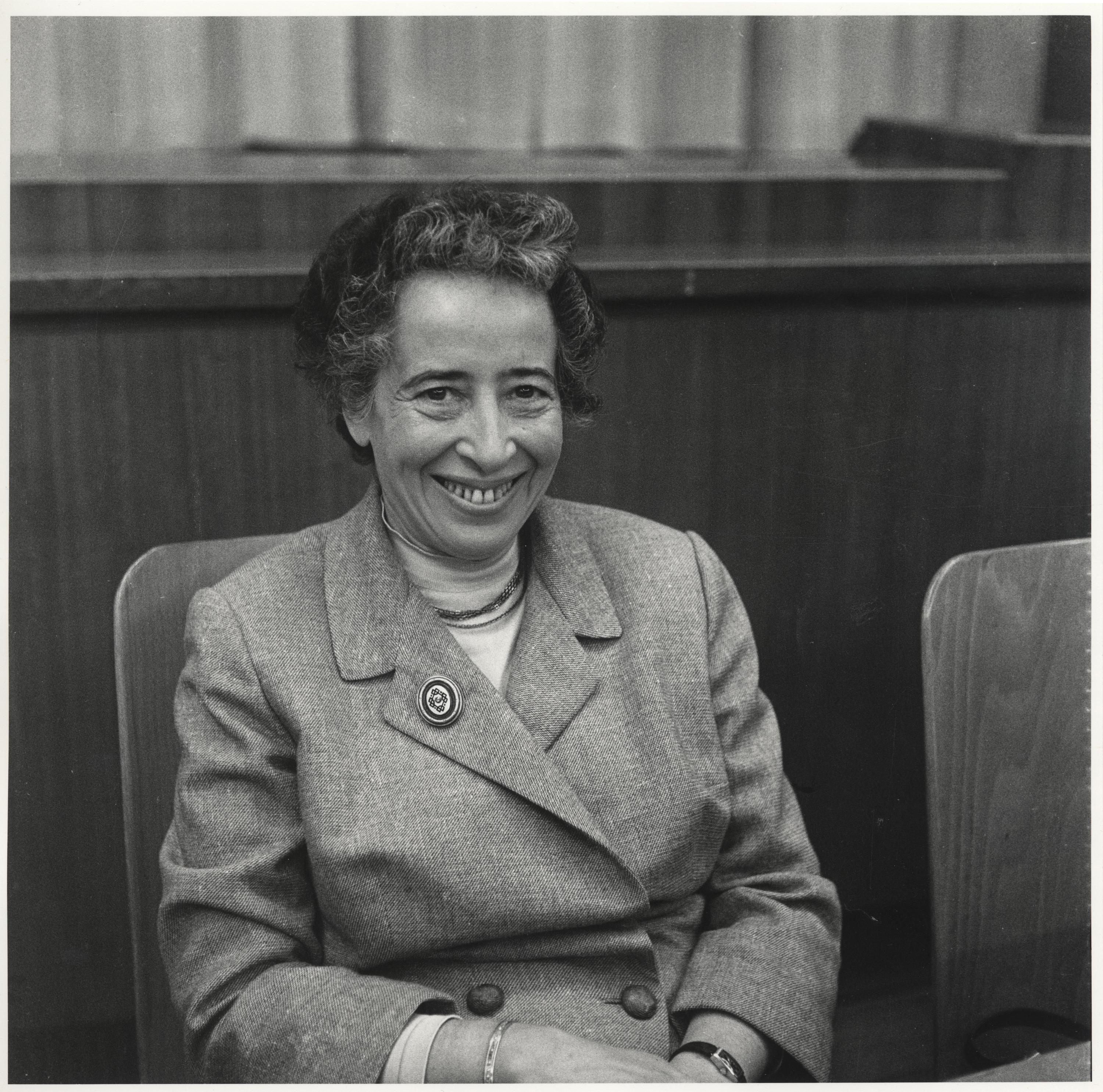 Hannah Arendt 1958 taken from Deutsches Historisches Museum, Berlin