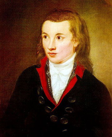 Portrait of German author Novalis