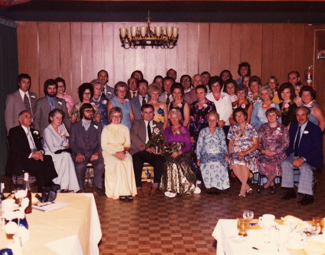 Group photo of German-Canadian celebration from the 1970s