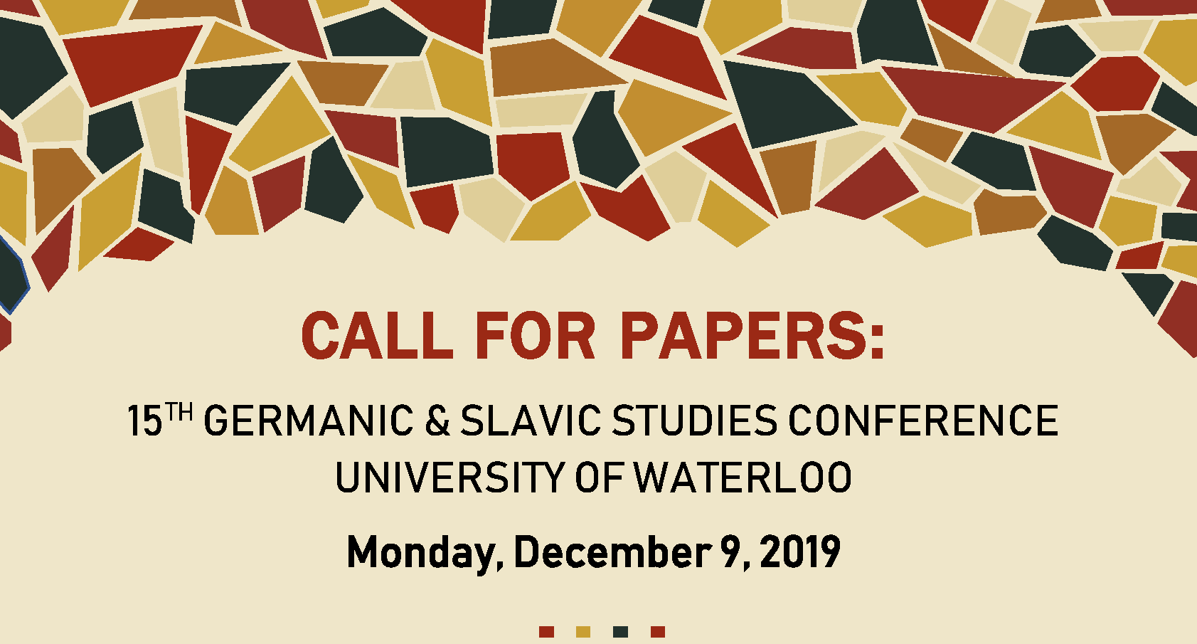 CfP 15th Germanica and Slavic Studies ConferenceUW