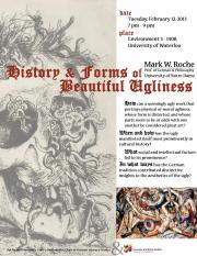 History and Forms of Beautiful Ugliness Poster