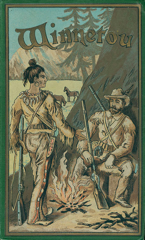 Cover art for original Winnetou publication, from 1893.