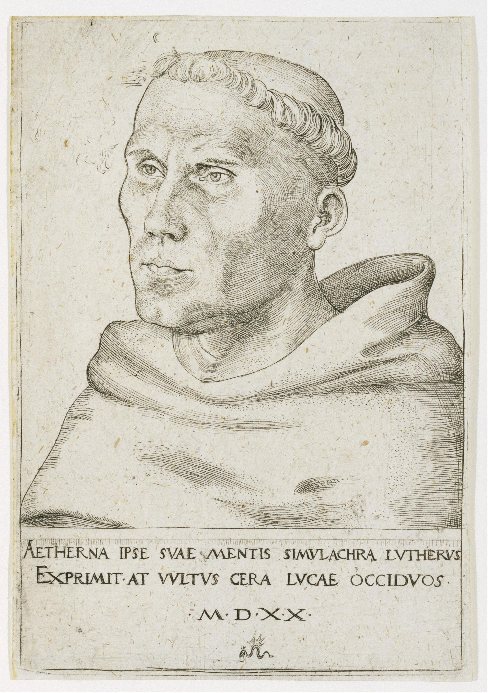 Drawing of Martin Luther by Lucas Cranach the Elder