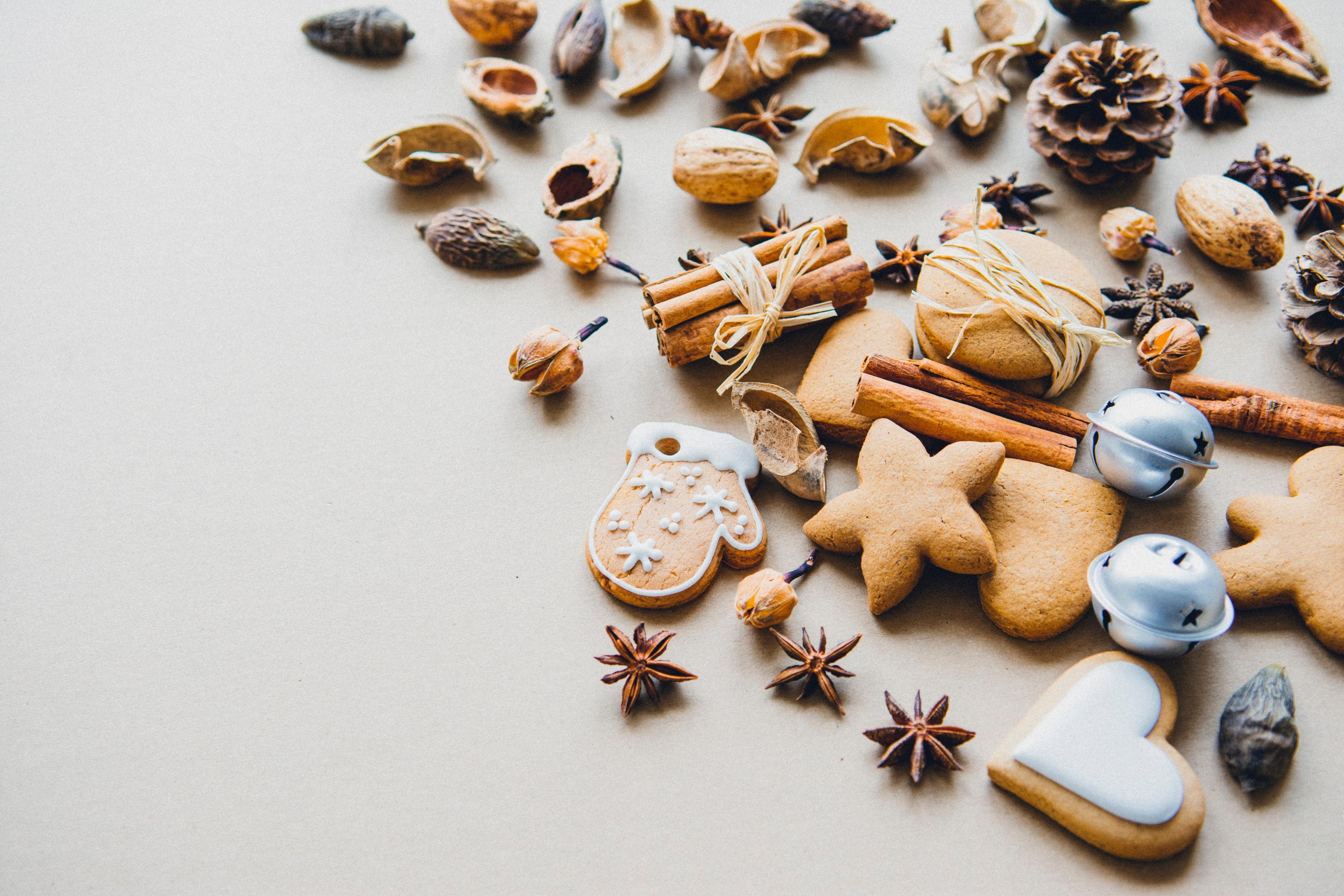 Photo of Christmas cookies. By Mira, from unsplash.
