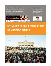 From Peaceful Revolution to German Unity Poster
