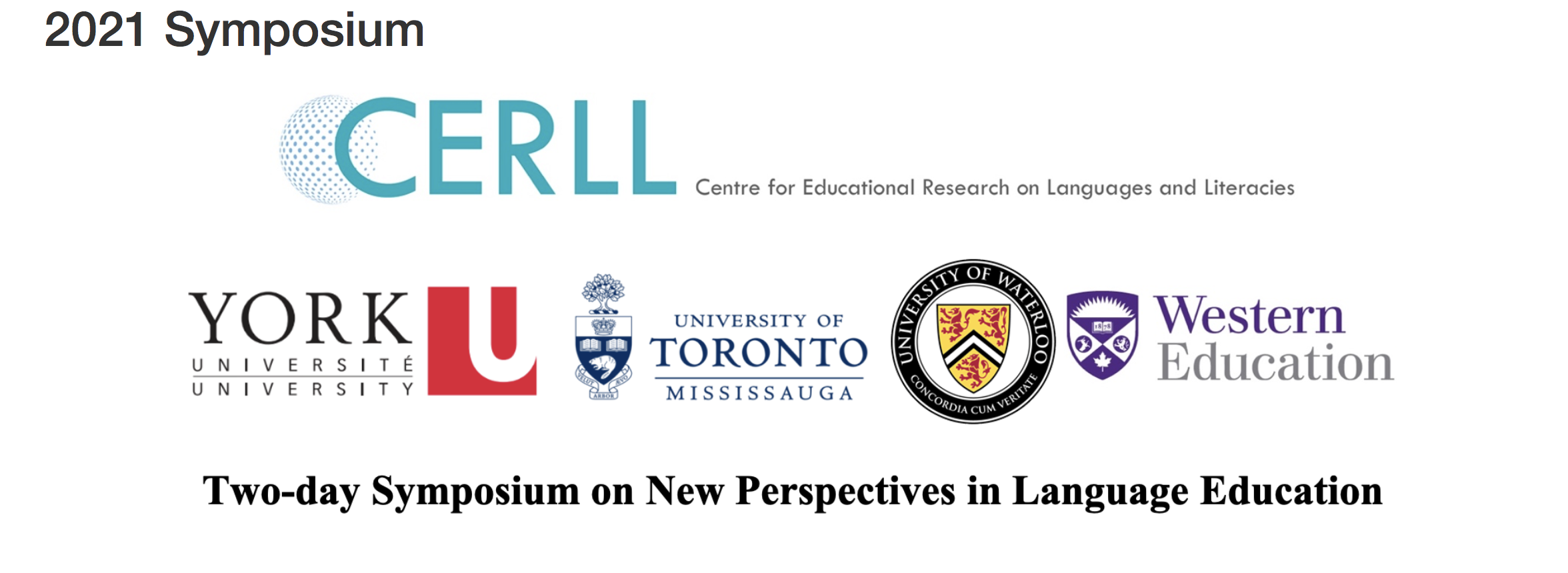 Image of logos from the University of Toronto, Western University, York University and University of Waterloo