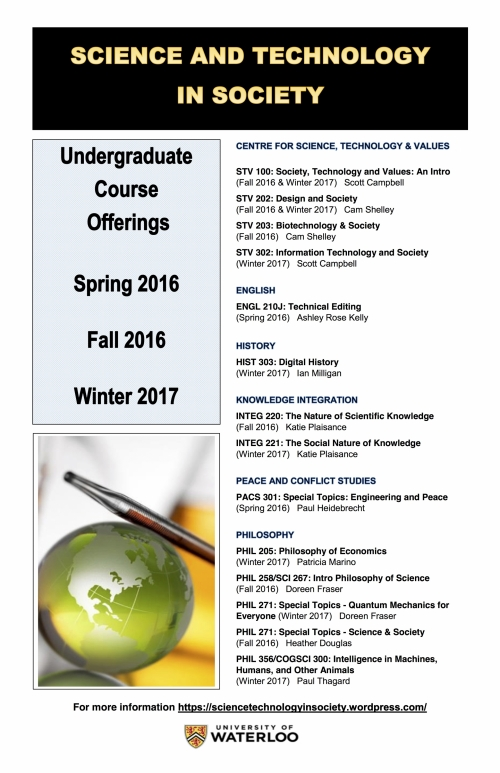 Science and Technology in Society Teaching Group courses for 2016