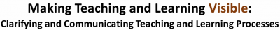 Clarifying and Communicating Teaching and Learning Processes