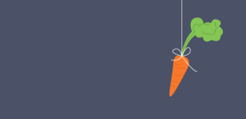 A carrot dangling on a string