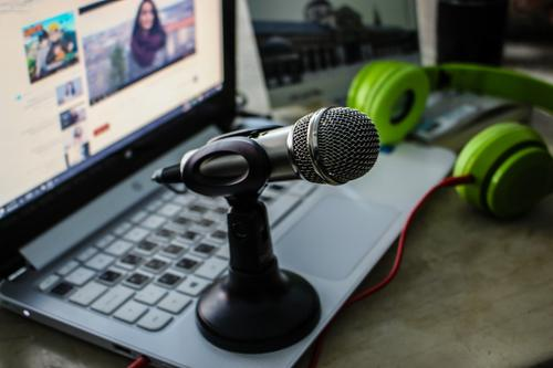 Laptop and a microphone