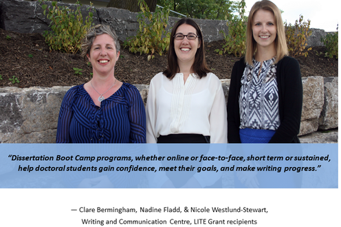 The Writing and Communication Centre found Dissertation Boot Camp enhances PhD students' writing progress and confidence