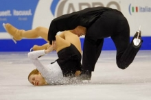 A pair's figure skating accident