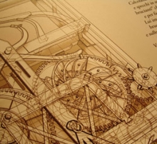 a translucent mechanical drawing