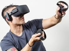 Guy playing with VR
