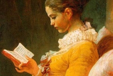 A woman reading a book