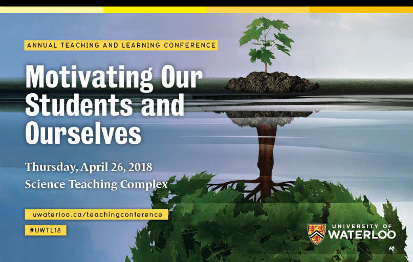 Conference poster with this year's conference theme: Motivating our Students and Ourselves