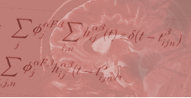 Scientific equation over image of brain