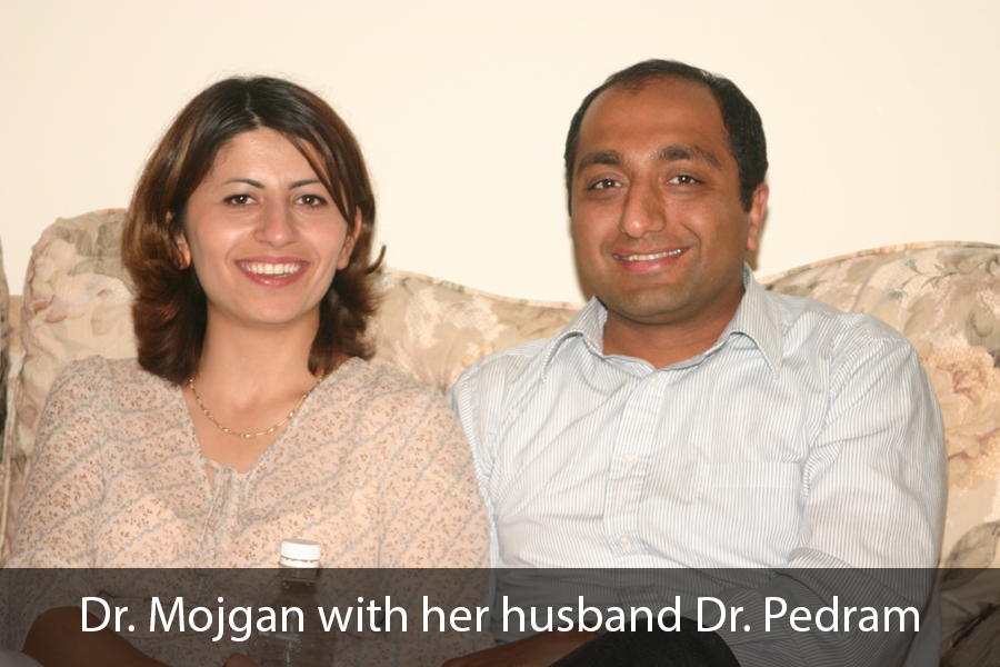 Dr. Mojgan with her husband Dr. Pedram