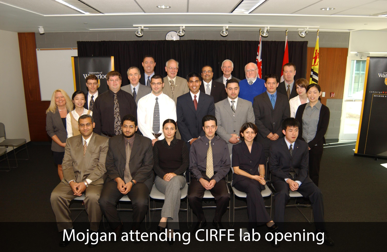 Mojgan attending CIRFE lab opening