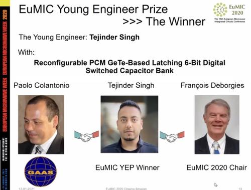 Tejinder Singh - Young Engineer Award
