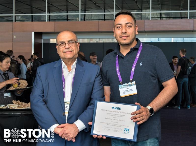 Prof. Raafat Mansour and Tejinder Singh