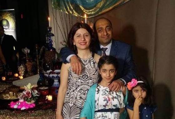 Mojgan Daneshmand with her family