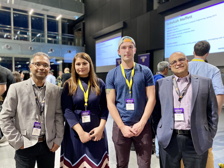 Prof. Siva Sivoththaman, Navjot Khaira, Armin Smajevic, and Prof. Raafat Mansour
